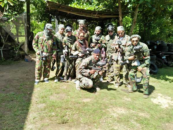 Provate session paintball in Bali