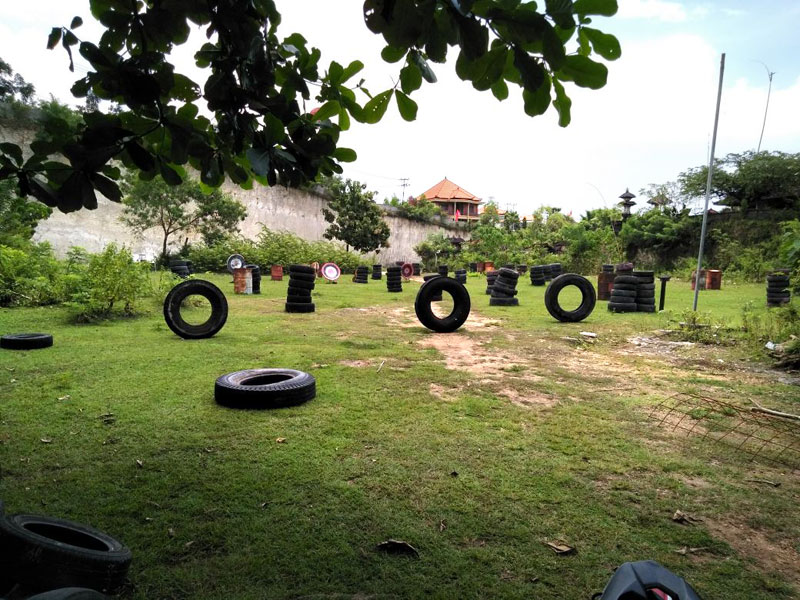 Paintball Bali battlefield