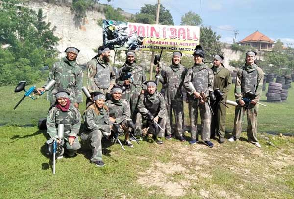 Group paintball in Bali