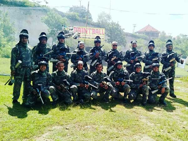 Corporate paintball in Bali