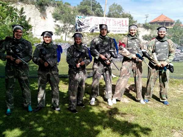 Paintball in Bali with friend