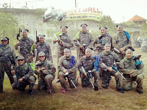 Bucks party paintball in Bali
