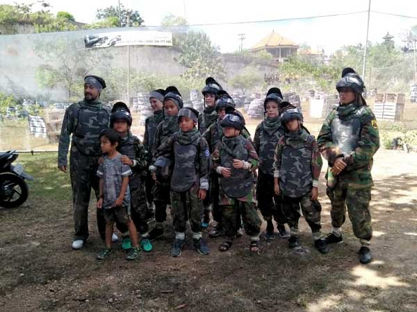 Kids paintball in Bali