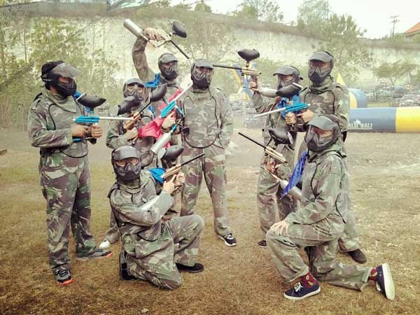 Play paintball in Bali